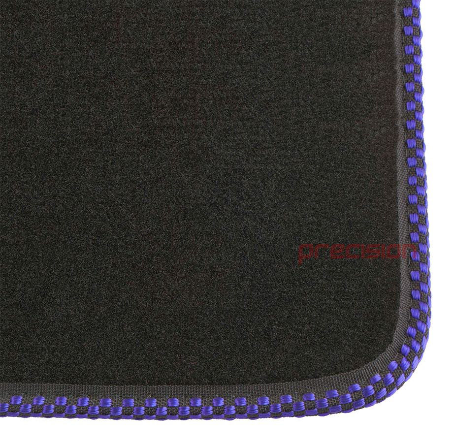 Black-Business-Carpet-Car-Mats-with-Sports-Check-for-AUDI-A4-2002-2008 thumbnail 3