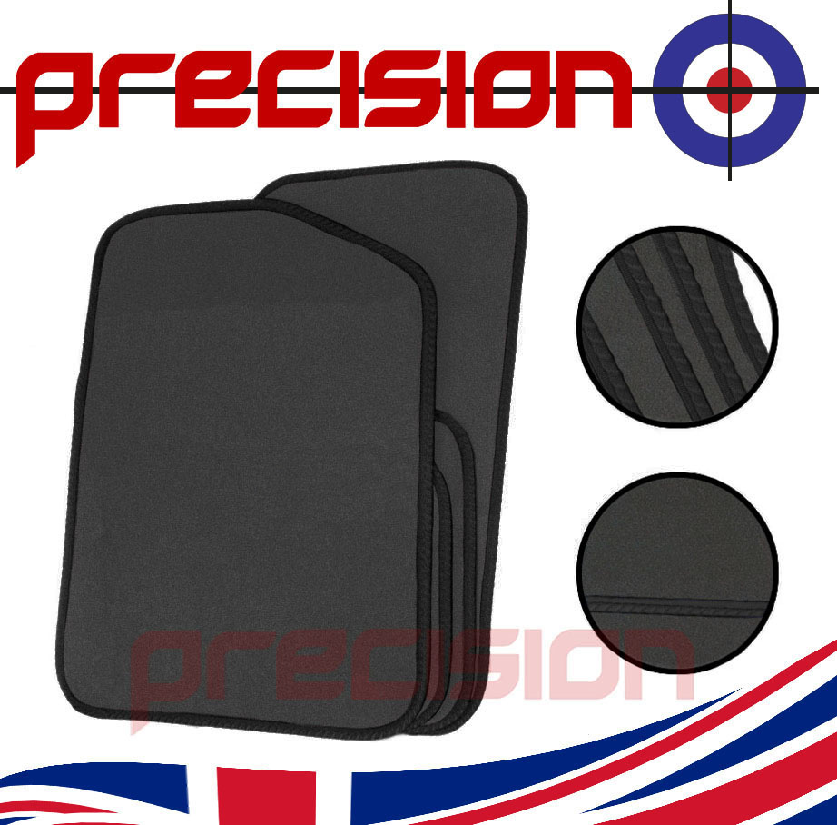Grey-Business-Carpet-Car-Mats-Black-Solid-for-BMW-1-SERIES-CONVERTIBLE-11-17