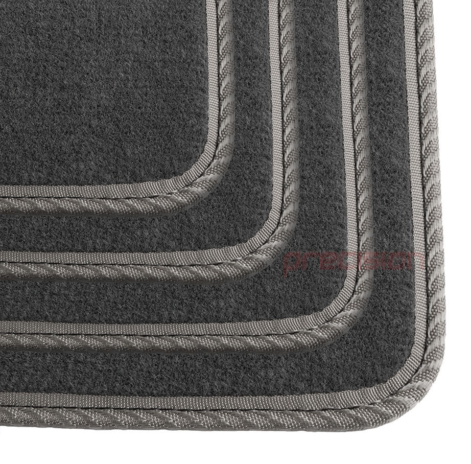 Grey-Business-Class-Car-Mats-with-Grey-Solid-for-FIAT-PUNTO-MK1-93-99 thumbnail 4