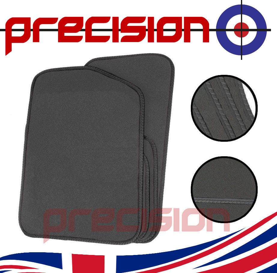 Grey-Business-Class-Car-Mats-with-Grey-Solid-for-FIAT-PUNTO-MK1-93-99
