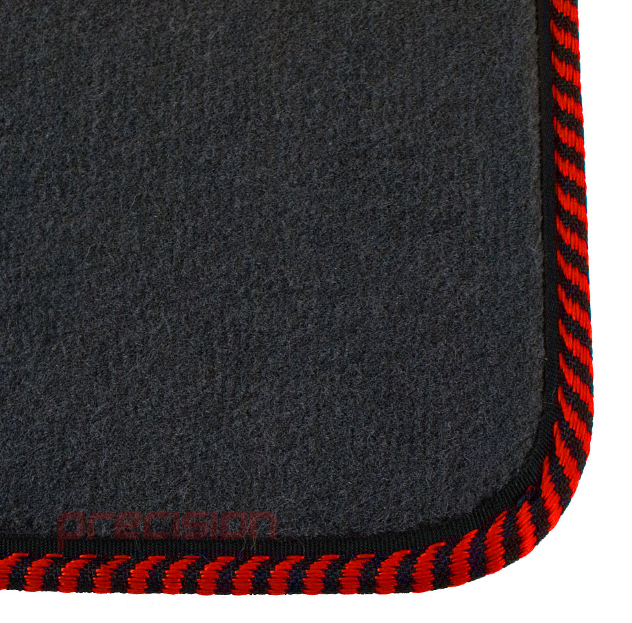 Grey-Business-Class-Car-Mats-with-Red-Twist-for-MAZDA-6-MK2-2007-2009 thumbnail 3