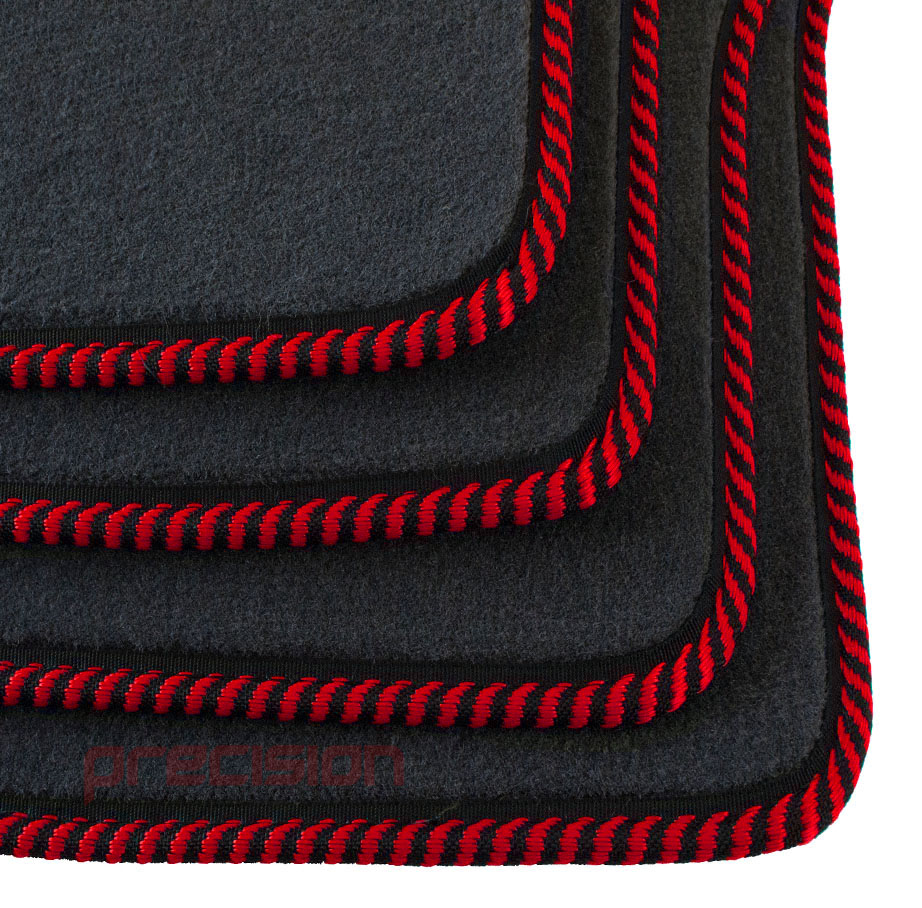 Grey-Business-Class-Car-Mats-with-Red-Twist-for-MAZDA-6-MK2-2007-2009 thumbnail 4