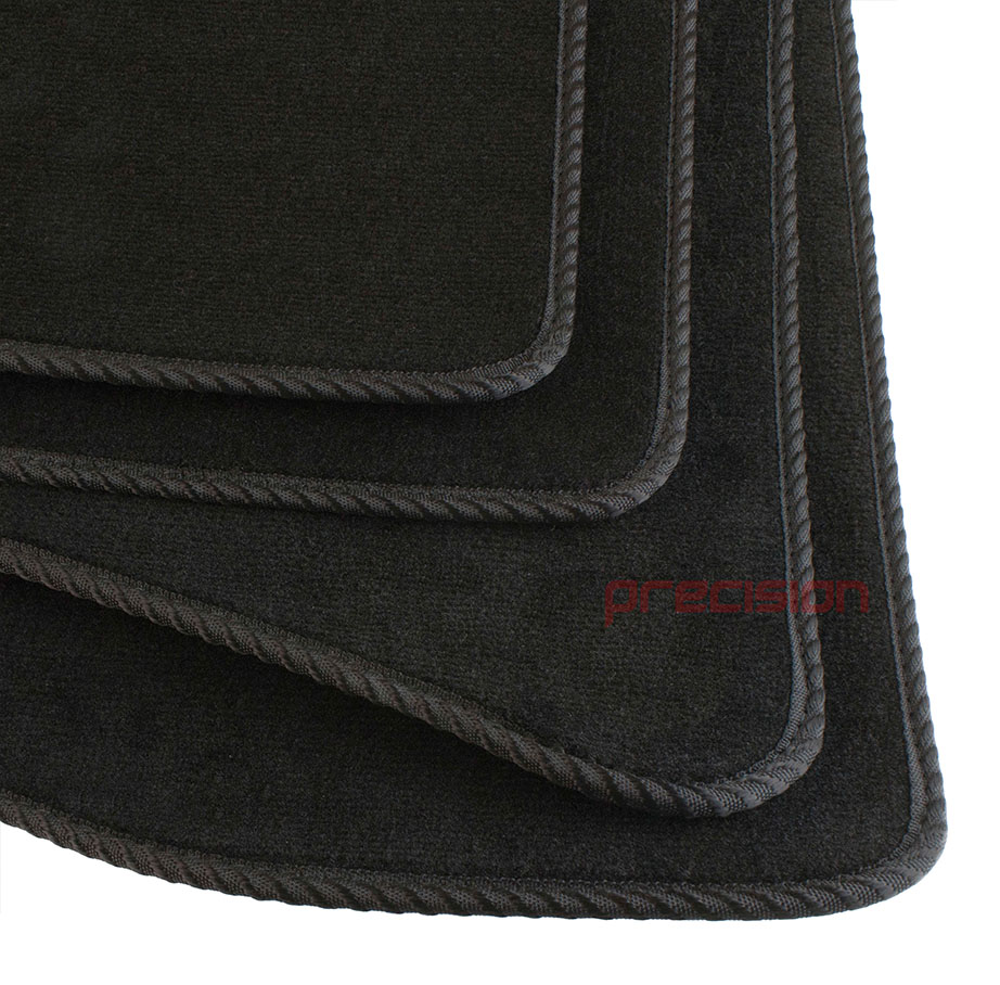 Black-Business-Class-Car-Mats-with-Black-Solid-for-TOYOTA-YARIS-5DR-02-06 thumbnail 4