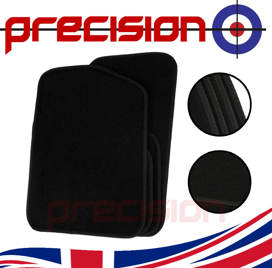Black-Business-Class-Car-Mats-with-Black-Solid-for-TOYOTA-YARIS-5DR-02-06