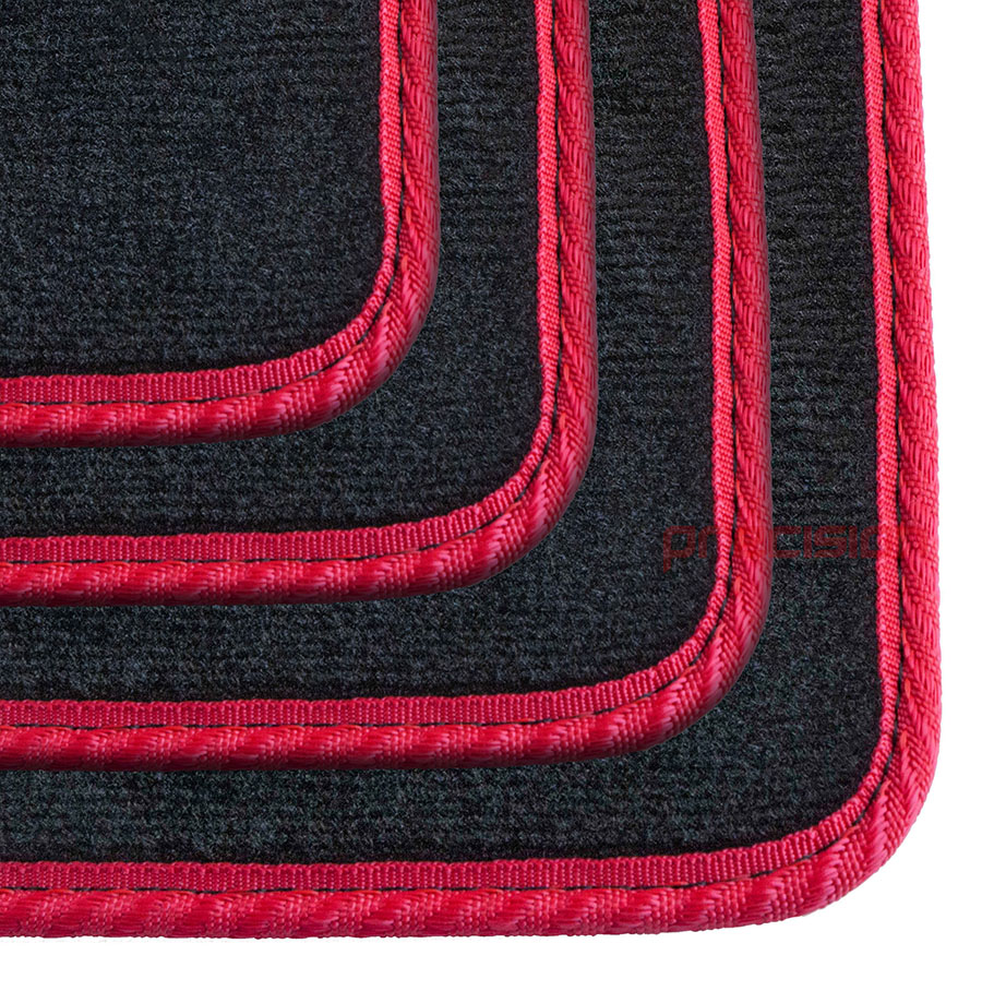Black-Business-Carpet-Car-Mats-with-Red-Solid-for-LEXUS-GS450H-06-12 thumbnail 4