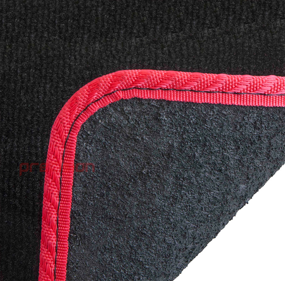 Black-Business-Carpet-Car-Mats-with-Red-Solid-for-LEXUS-GS450H-06-12 thumbnail 5