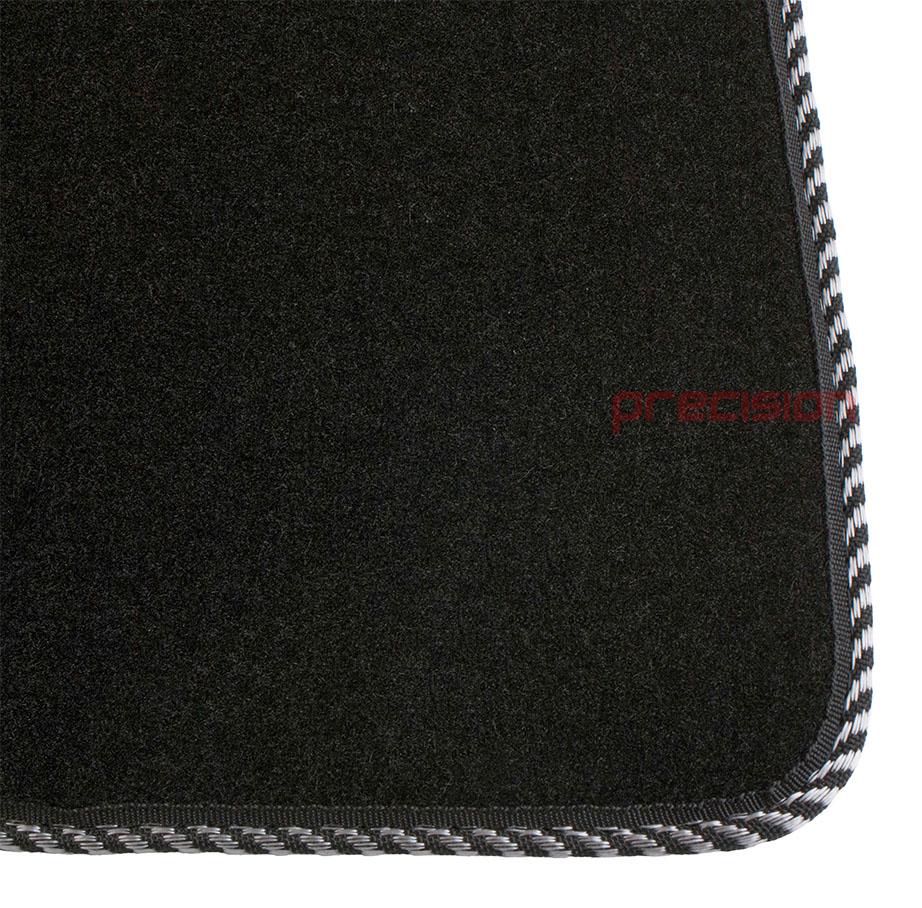 Black-Business-Class-Car-Mats-with-Silver-Twist-for-MAZDA-6-MK2-2007-2009 thumbnail 3