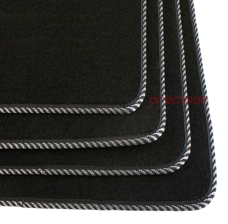 Black-Business-Class-Car-Mats-with-Silver-Twist-for-MAZDA-6-MK2-2007-2009 thumbnail 4