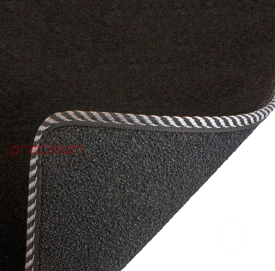 Black-Business-Class-Car-Mats-with-Silver-Twist-for-MAZDA-6-MK2-2007-2009 thumbnail 5