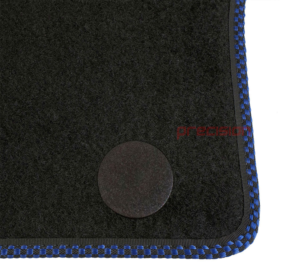 Black-Business-Class-Car-Mats-with-500-Logo-amp-Blue-Check-for-Fiat-500-2013-On thumbnail 5