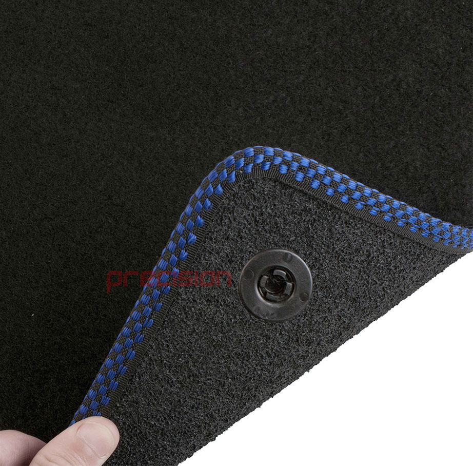 Black-Business-Class-Car-Mats-with-500-Logo-amp-Blue-Check-for-Fiat-500-2013-On thumbnail 6