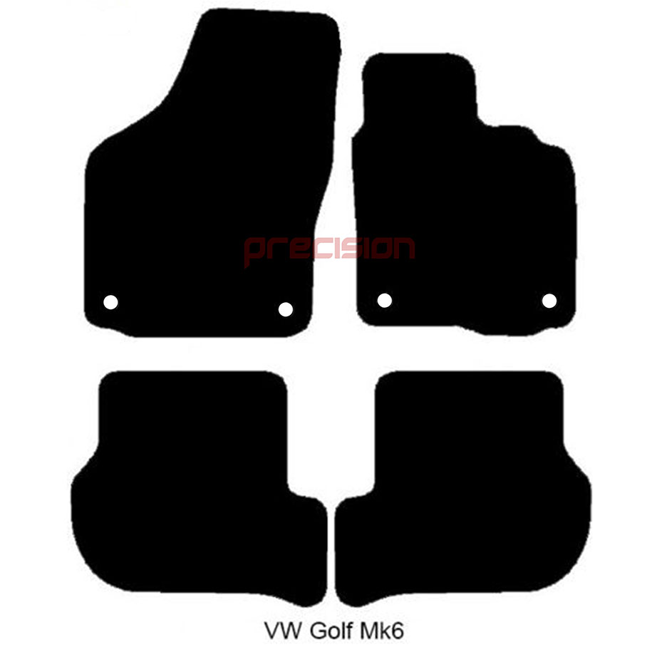 thumbnail 2 - Fitted-Tailored-Car-Mats-with-GTD-Logo-for-VW-Golf-Mk6-2008-2013