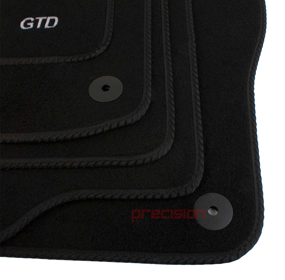 thumbnail 4 - Fitted-Tailored-Car-Mats-with-GTD-Logo-for-VW-Golf-Mk6-2008-2013