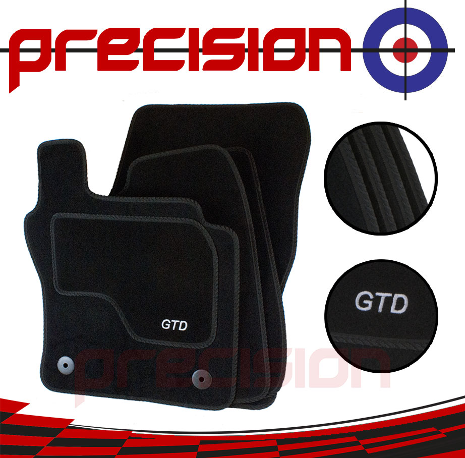 Fitted Tailored Car Mats with GTD Logo for VW Golf Mk7 2013-2018