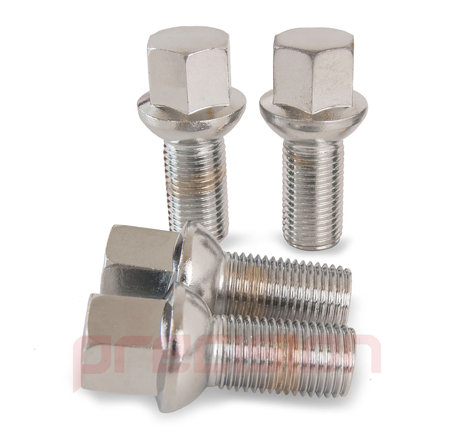16-Chrome-Wheel-Bolts-and-4-Locking-Nuts-for-VW-Caddy-Mark-2-Genuine-Alloys thumbnail 9