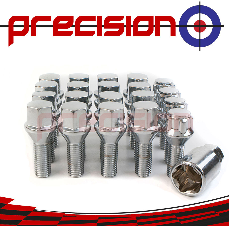16-Chrome-Wheel-Bolts-and-4-Locking-Nuts-for-BMW-3-Series-E46-Compact-3-Door