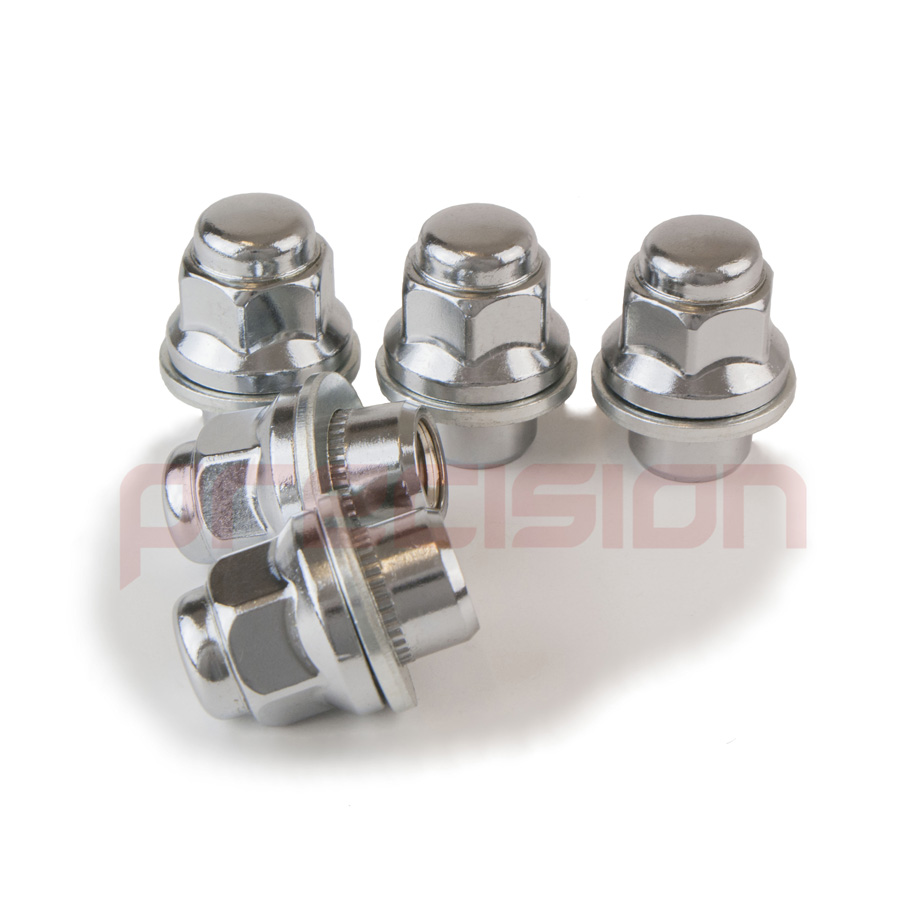 16-Chrome-Wheel-Nuts-for-Toyota-Yaris-with-Genuine-Alloys thumbnail 6