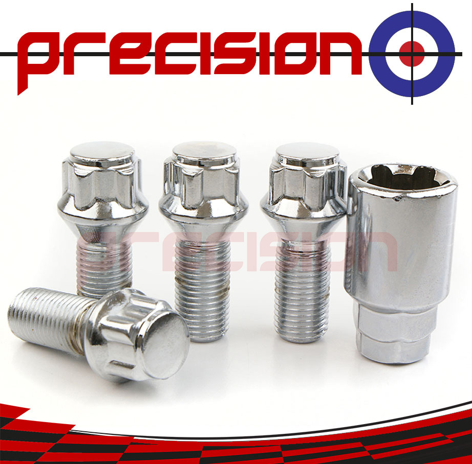 Chrome-Locking-Wheel-Nut-Bolts-and-Key-for-Rover-75