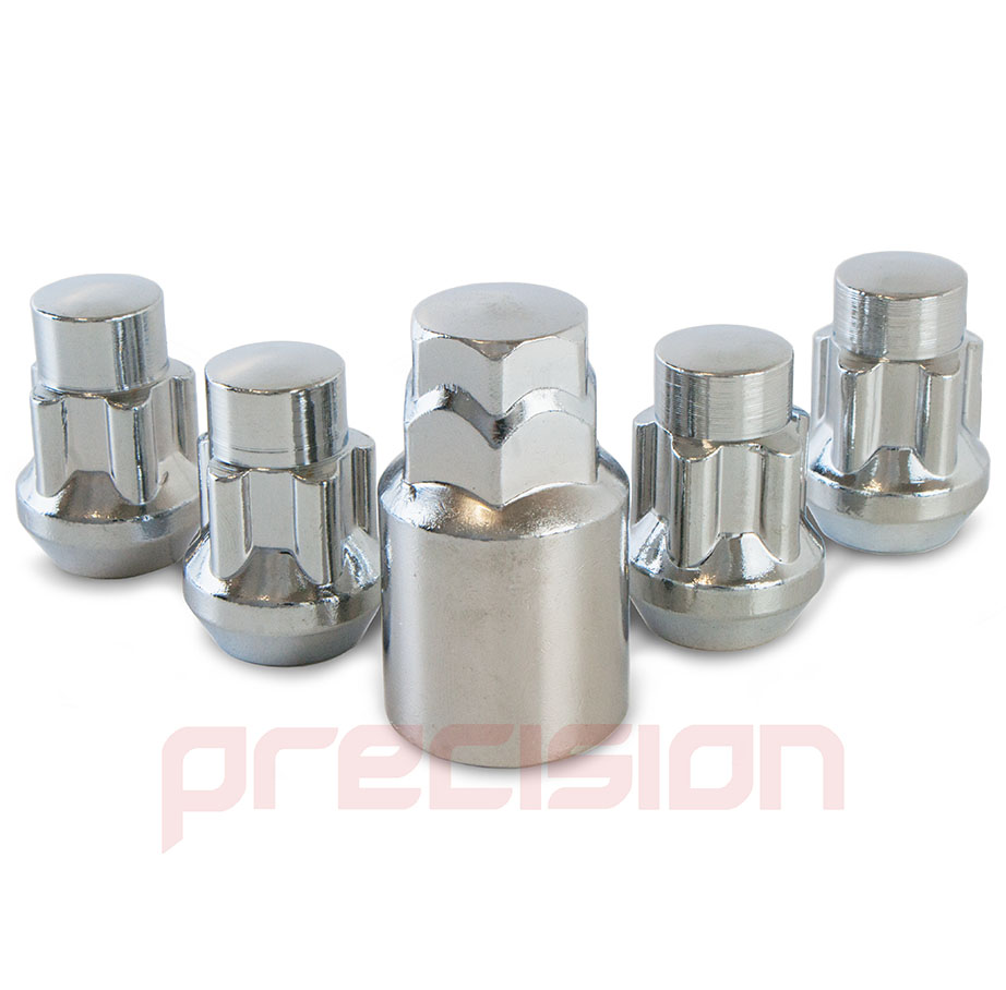 Chrome-Locking-Wheel-Nuts-and-Key-for-Ford-Focus-with-Aftermarket-Alloys thumbnail 5