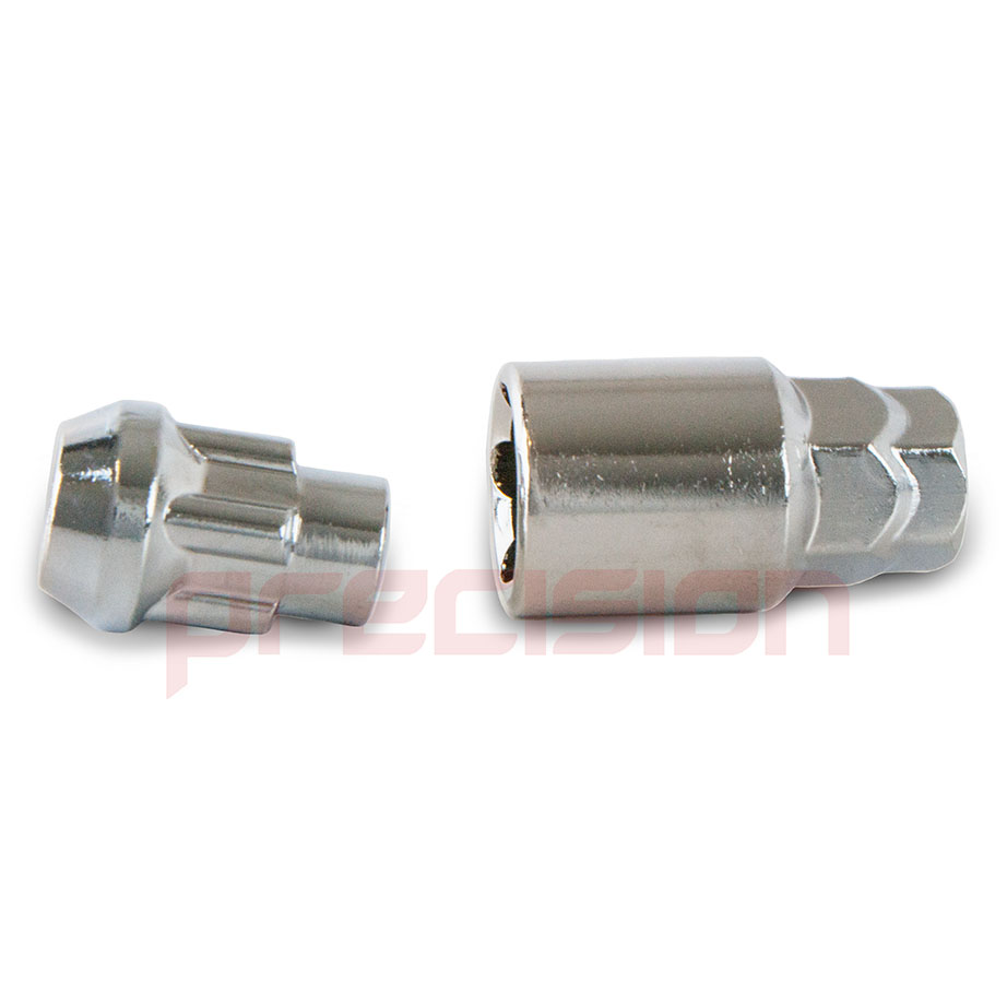 Chrome-Locking-Wheel-Nuts-and-Key-for-Ford-Focus-with-Aftermarket-Alloys thumbnail 8