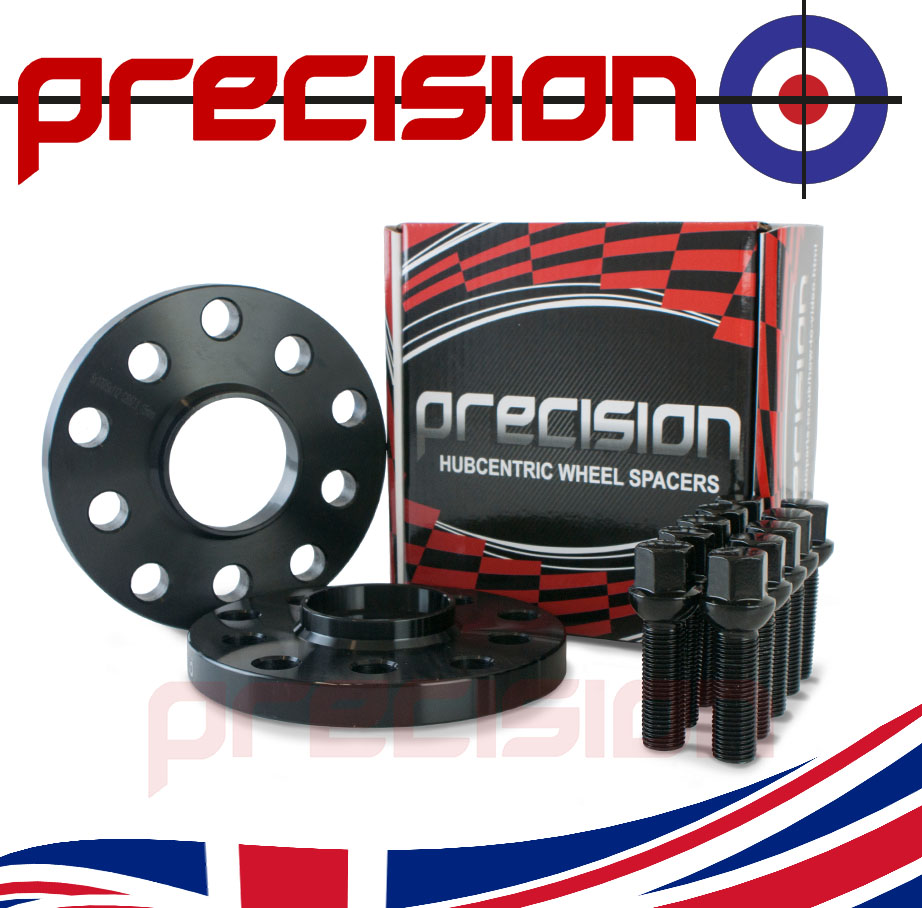 15mm-Black-Hubcentric-Spacers-1-Pair-Bolts-for-Genuine-Audi-TT-Alloy-Wheels