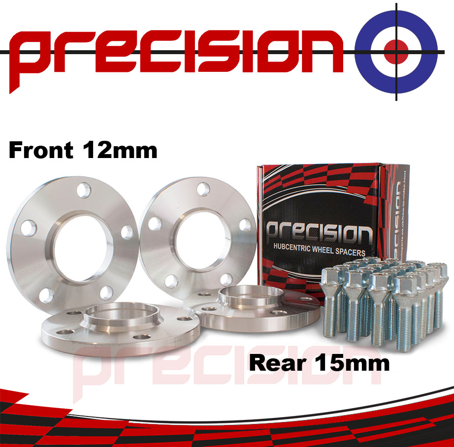 Staggered-Fitment-Hubcentric-Alloy-Wheel-Spacers-12mm-15mm-Bolts-BMW-Z4