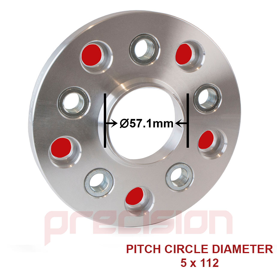 2-Pairs-of-15mm-Hubcentric-PCD-Adapters-5x112-to-5x100-for-Volkswagen-Golf-MK5 thumbnail 2