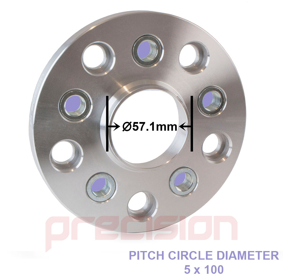 2-Pairs-of-15mm-Hubcentric-PCD-Adapters-5x112-to-5x100-for-Volkswagen-Golf-MK5 thumbnail 3