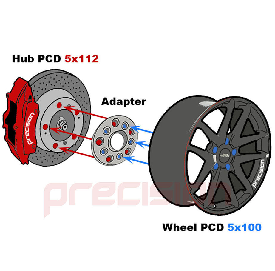 2-Pairs-of-15mm-Hubcentric-PCD-Adapters-5x112-to-5x100-for-Volkswagen-Golf-MK5 thumbnail 5