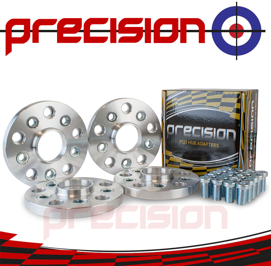 2-Pairs-of-15mm-Hubcentric-PCD-Adapters-5x112-to-5x100-for-Volkswagen-Golf-MK5