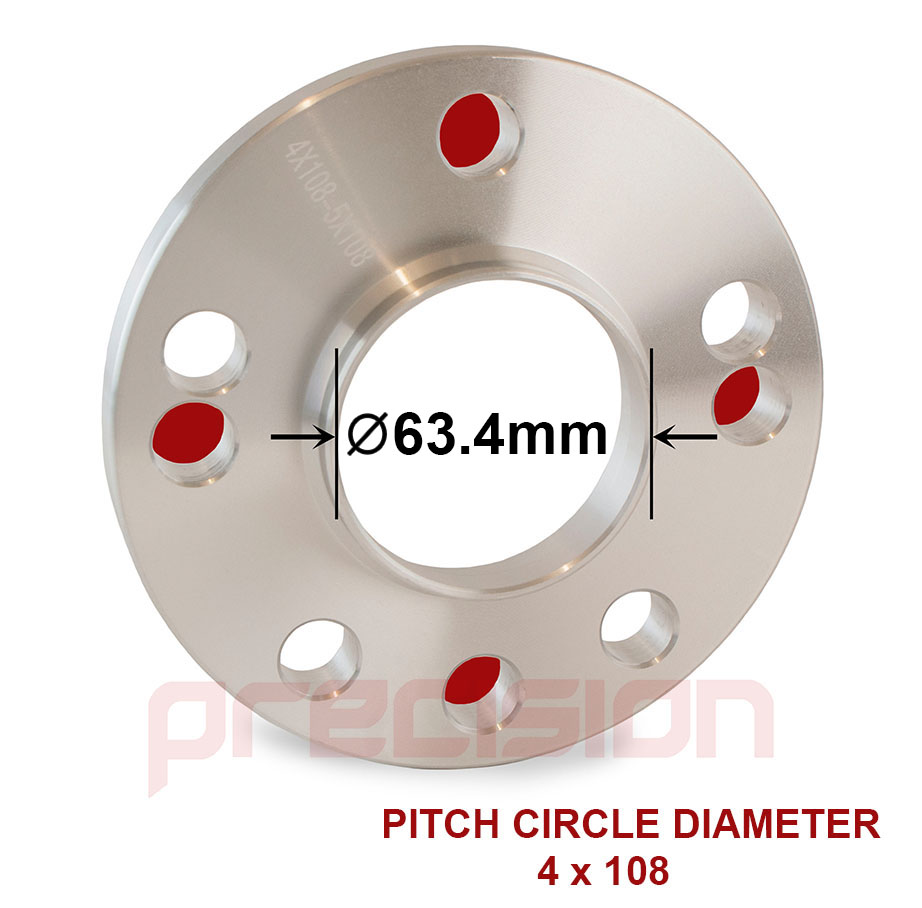 thumbnail 2 - 1 Pair of Hubcentric 15mm Alloy Wheel Spacers for Jaguar F-Type