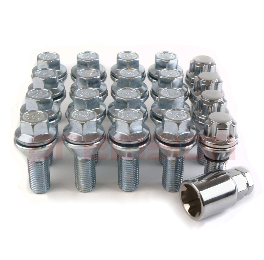 16-Wobble-Wheel-Bolts-and-4-Locking-Bolts-for-BMW-to-Vauxhall-Vivaro-Box-Fitment thumbnail 2