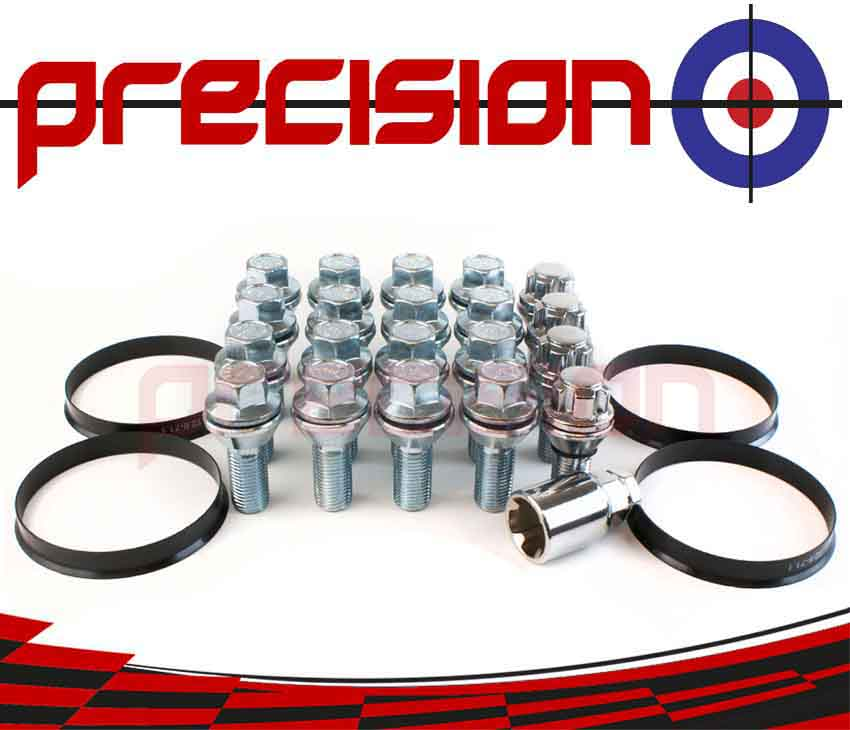 16 Chrome Wheel Nuts & Locks For BMW To Renault Trafic