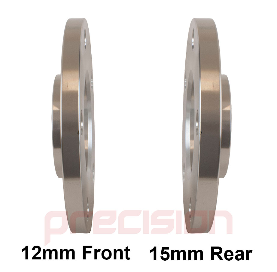 Staggered-Fitment-Hubcentric-Alloy-Wheel-Spacers-12mm-15mm-Bolts-Nuts-BMW-M3 thumbnail 4