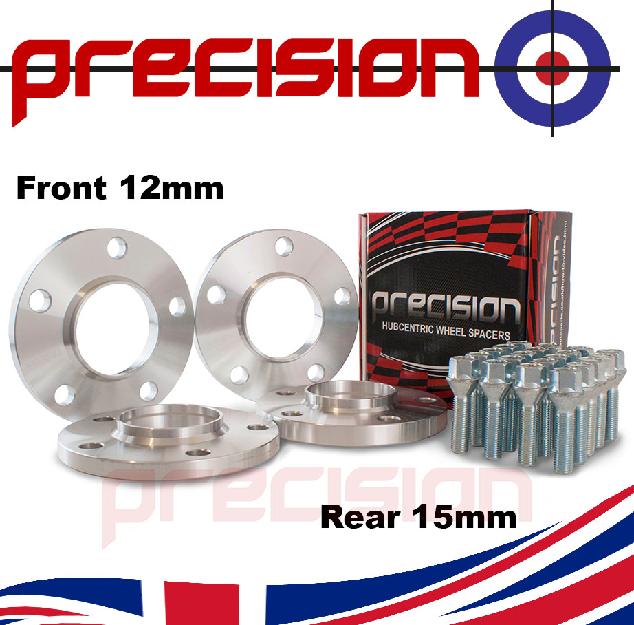Staggered-Fitment-Hubcentric-Alloy-Wheel-Spacers-12mm-15mm-Bolts-Nuts-BMW-M3