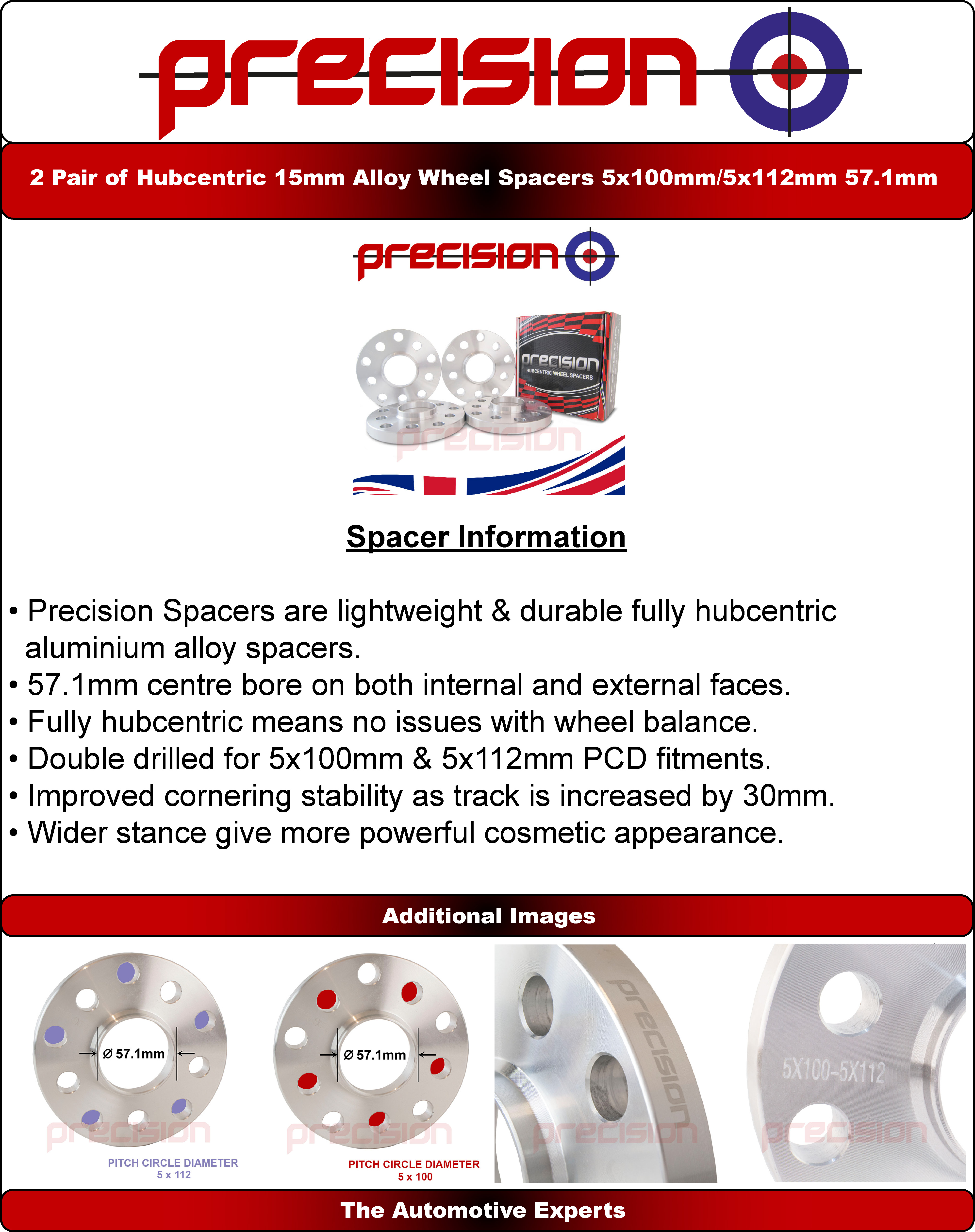 Wheel-Spacers-15mm-Hubcentric-2-Pair-for-Audi-TT-Roadster-1999-2006 thumbnail 6