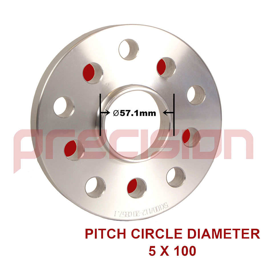 Staggered-Wheel-Spacers-15-20mm-with-Bolts-Nuts-and-Locks-for-OEM-VW-Golf-Alloys thumbnail 5